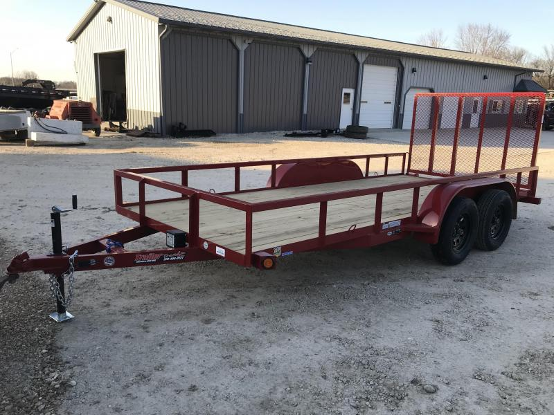 2018 Load Trail 77X16 UE RED TANDEM AXLE Utility Trailer