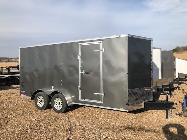2018 Continental Cargo 7X16 VEE SERIES DOUBLE REAR DOOR Enclosed Cargo Trailer