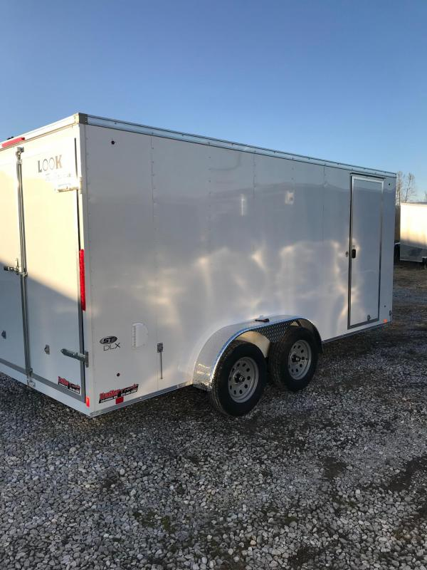 2018 Look Trailers 7X16 ELEMENT ST DLX DOUBLE REAR DOORS Enclosed Cargo Trailer