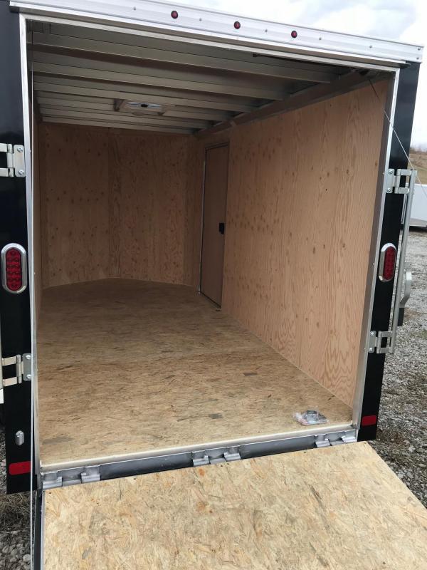 2018 Aluminum Trailer Company 6X12 RAMP DOOR ALUMINUM FRAME Enclosed Cargo Trailer
