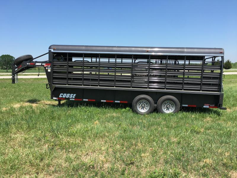 2010 28 x 7 Other Coose Cattle Livestock Trailer