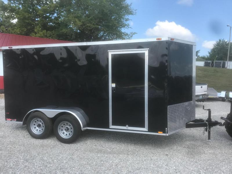 2018 TT 7X14 BLACK Enclosed Cargo Trailer in Ashburn, VA