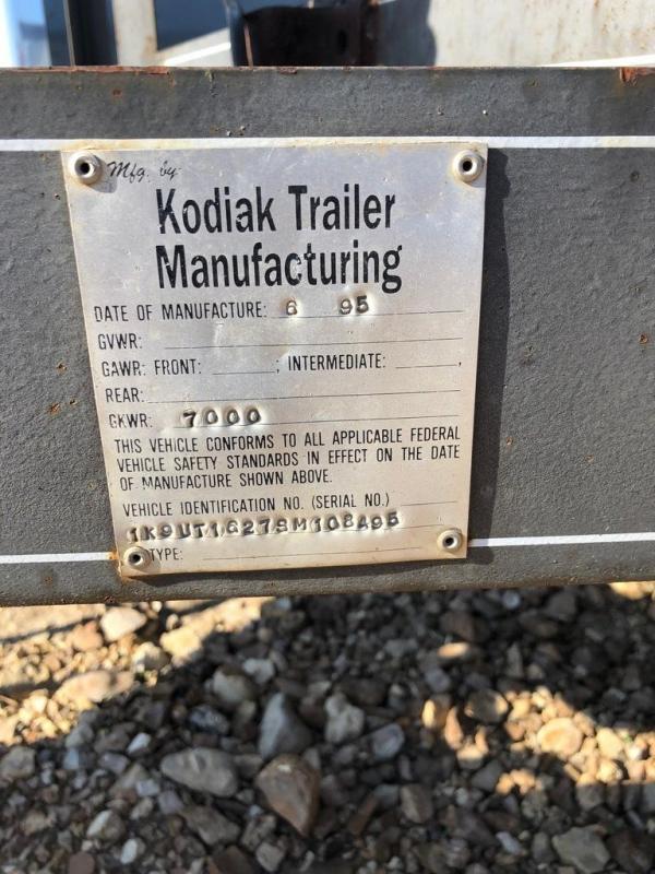 1995 Kodiak 77X16 Utility Trailer