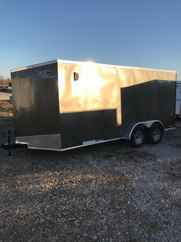 2018 Look Trailers 7X16 ST DLX DOUBLE REAR DOOR Enclosed Cargo Trailer