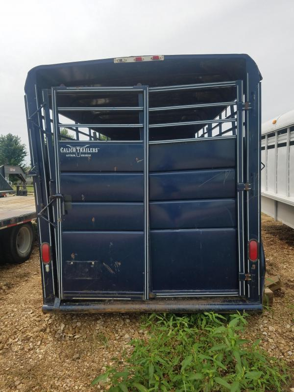 2011 Calico Trailers 6X14 CALICO GOOSENECK GOOD TIRES BLUE Livestock Trailer