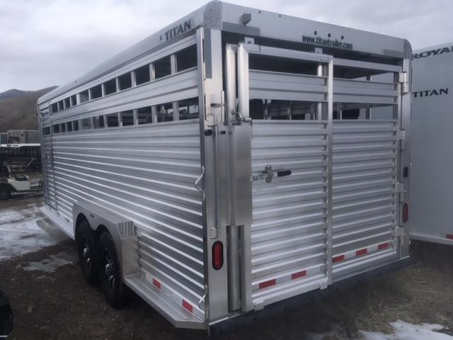2019 Titan 20 Aluminum Livestock Trailer