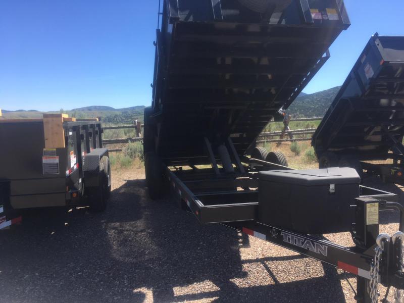 2018 Titan Trailers Bumper Dump Trailer