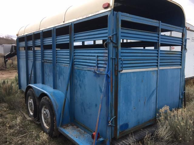 1987 Other Little Blue Stock Trailer Livestock Trailer