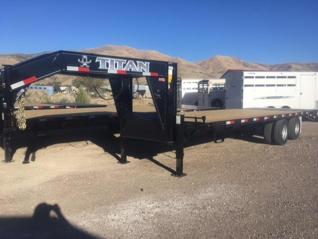 2018 Titan 20k Wide Glide Flatbed Trailer