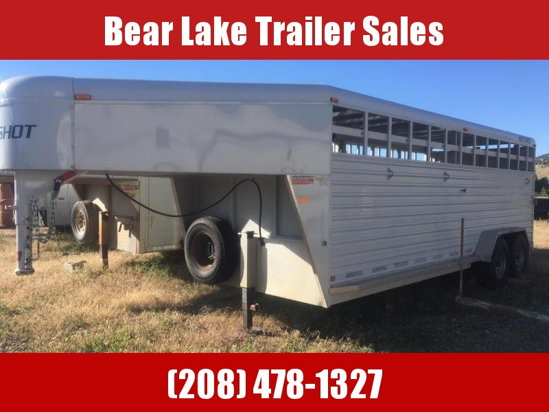 2007 Trails West Hotshot Livestock Trailer