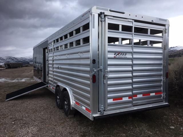 2019 Exiss Trailers Stock Combo LQ Livestock Trailer