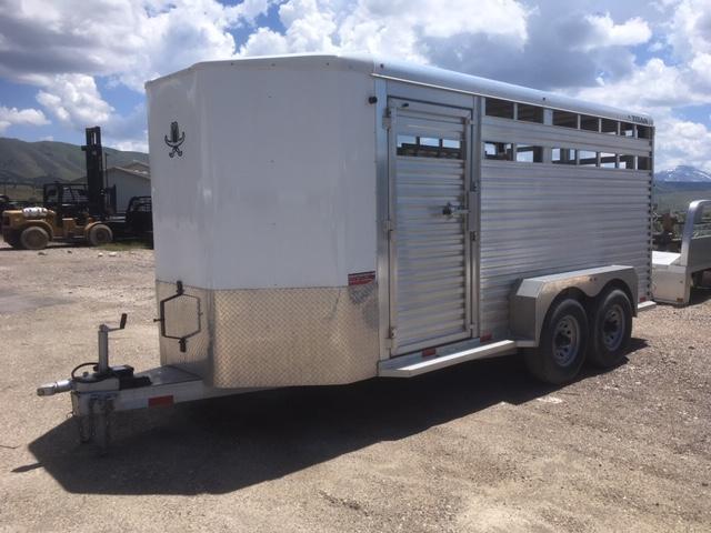 2017 Titan Trailers Aluminum Bumper Pull Livestock Trailer
