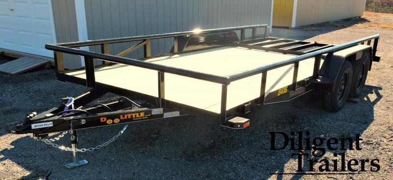"2019 Doolittle Trailer 84"" x16' Tandem Axle Utility Trailer"