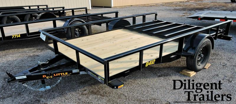 "2019 Doolittle Trailer 84"" x12' Single Axle Utility Trailer"