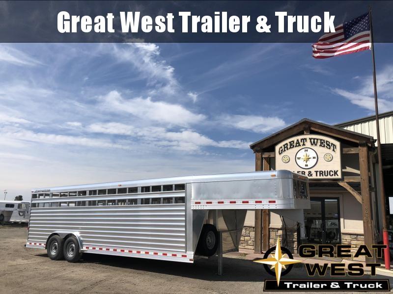 2019 Elite Trailers 24ft x 8' wide Stock Trailer Livestock Trailer