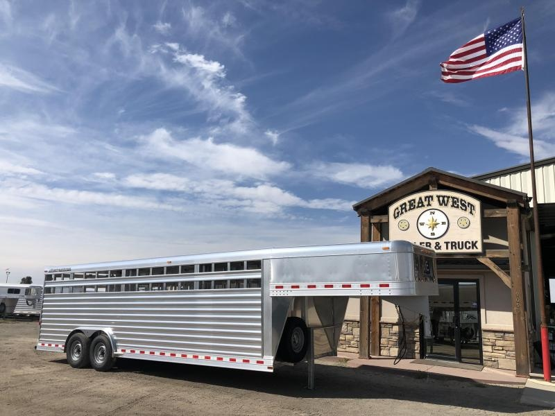 2019 Elite Trailers 24ft x 8' wide Stock Trailer Livestock Trailer