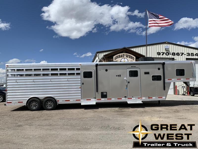 2016 Exiss 8032 Stock Combo with 10 Living Quarters Horse Trailer