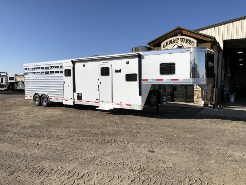 2018 Exiss Stock Combo Living Quarters Horse Trailer