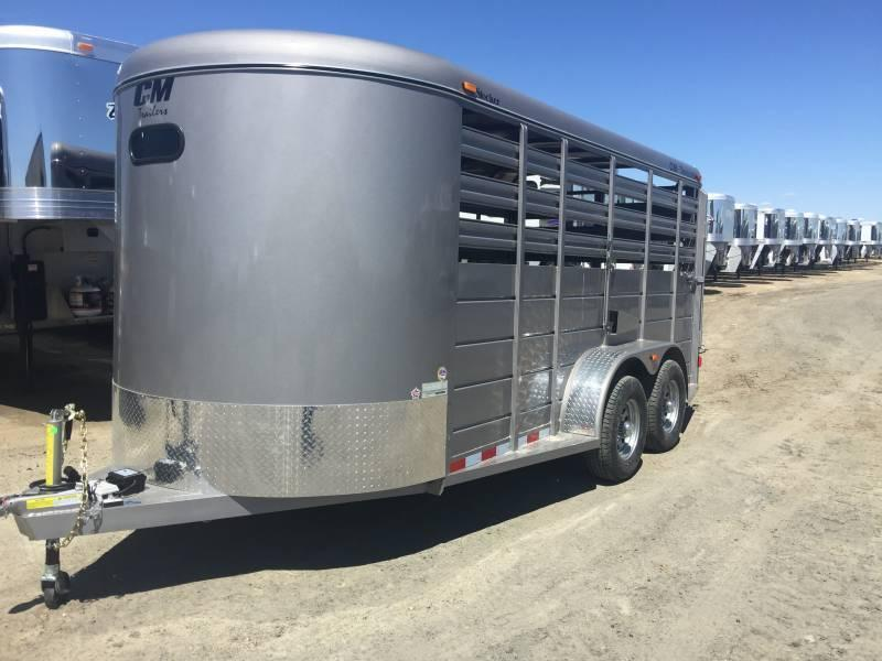 2019 CM 16' Bumper Pull Stock Trailer Pewter in Ashburn, VA