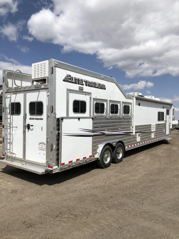 2015 Elite 17' Short Wall 4 Horse PC Load Trailer