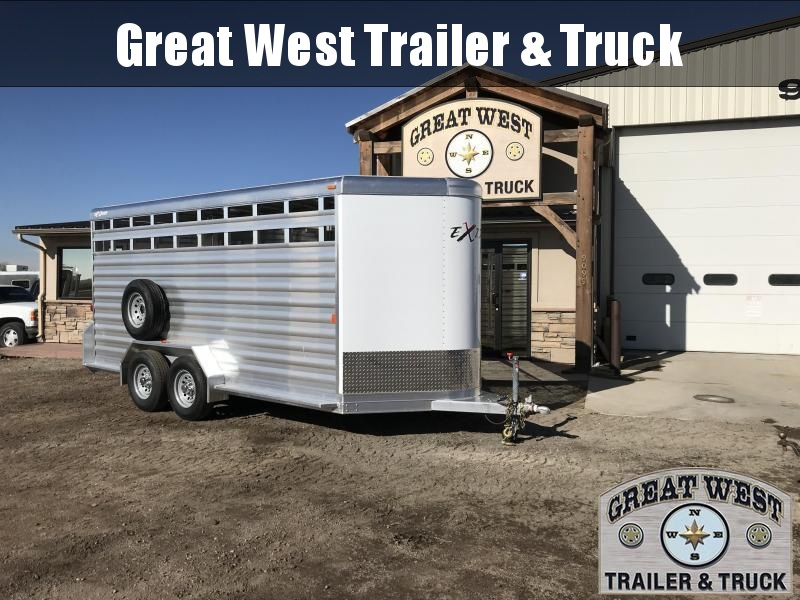 2018 Exiss Trailers 16 Stock Trailer Bumper Pull Livestock Trailer