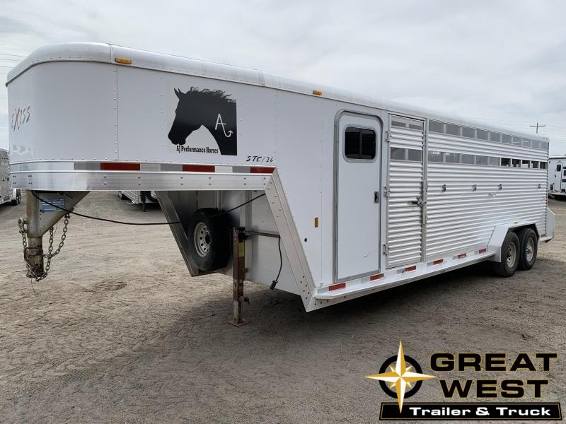 2005 Exiss Trailers 24 Stock Combo Livestock Trailer