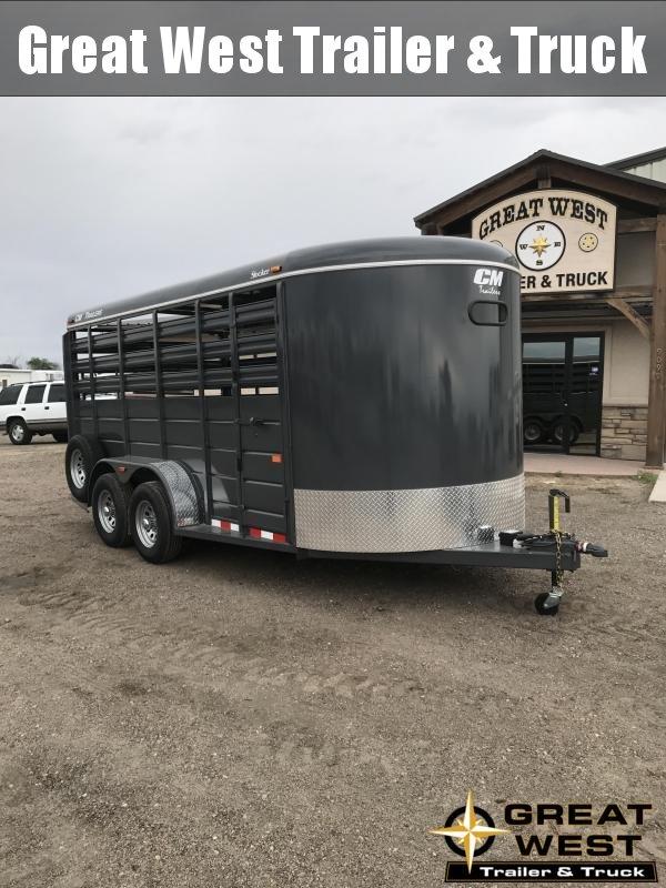 2019 CM Stocker 16 Stock trailer Livestock Trailer Charcoal