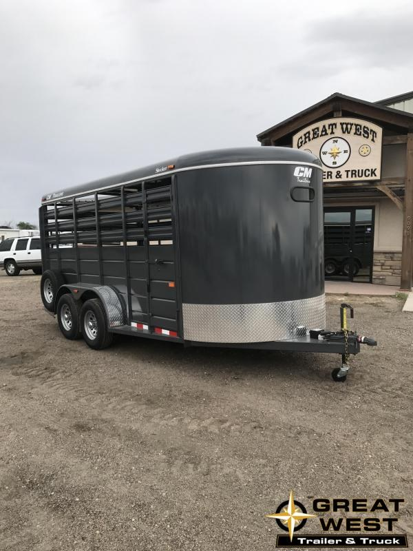 2019 CM Stocker 16 Stock trailer Livestock Trailer Charcoal in Ashburn, VA