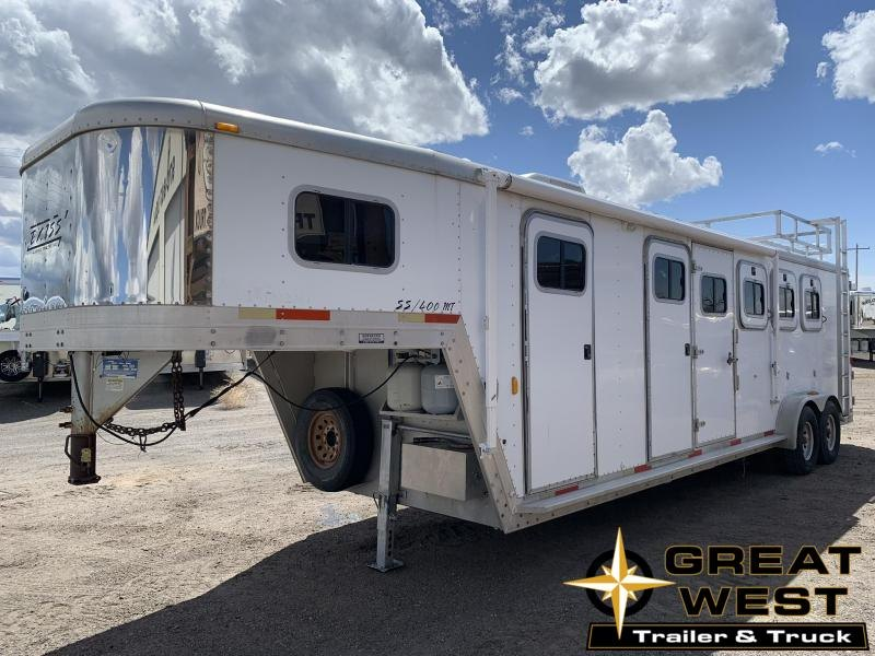 2002 Exiss 4 Horse Stock Horse Trailer