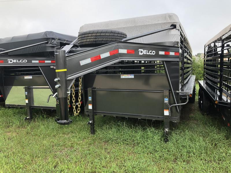 2019 Delco Trailers 6 8 X 28 Gooseneck Bar Top 3-7K Axles Livestock Trailer