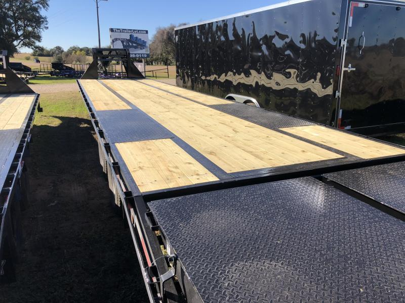 2019 Top Hat Trailers 102 x 40 Low Pro with HD Ramps Flatbed Trailer