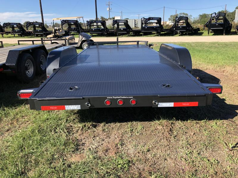 2018 Top Hat Trailers 18 Steel Deck Carhauler