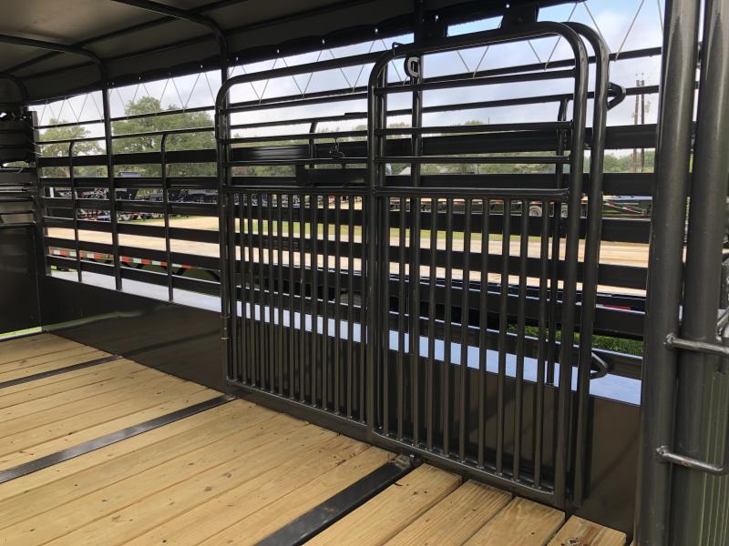 2019 Delco Trailers 6 8 X 16 Gooseneck Bar Top Livestock Trailer