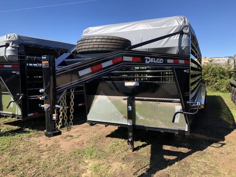2019 Load Trail 6 8 X 24 Gooseneck Bar Top Livestock Trailer