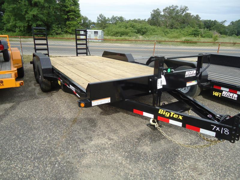 2019 Big Tex Trailers EH 7X18 14ET 18BKKR DT KNEE BLACK Car / Racing Trailer