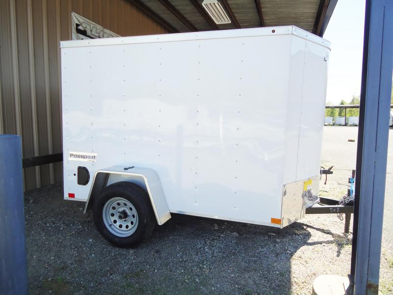 2019 Haulmark 5X8 PPT S2 SWING REAR DR WHITE Enclosed Cargo Trailer