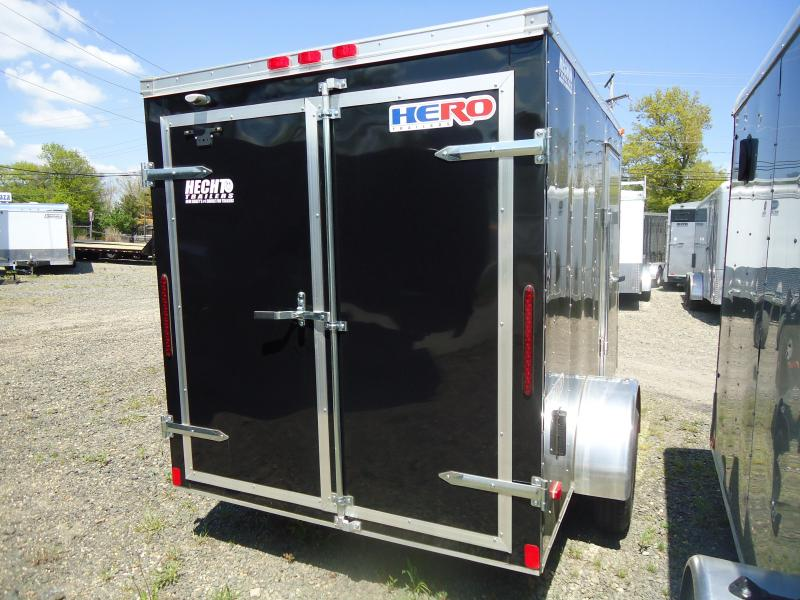 2018 Bravo Trailers 6X10 HR HERO SA SVNTS BLACK Enclosed Cargo Trailer