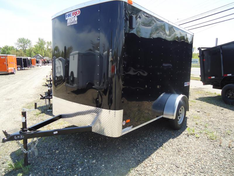 2018 Bravo Trailers 6X10 HR HERO SA SVNTS BLACK Enclosed Cargo Trailer