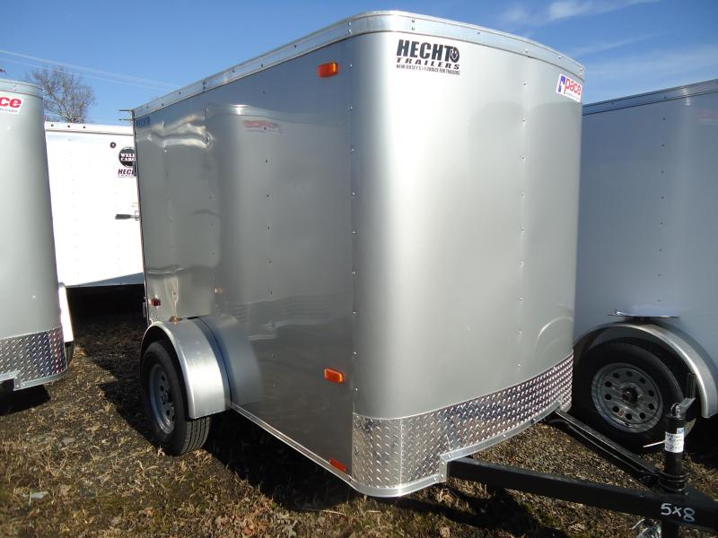 2019 Pace American 5X8 OB SI2 RAMP SILVER Enclosed Cargo Trailer