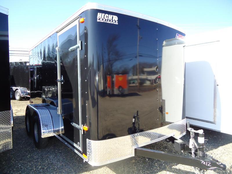 2018 Pace American 7X12 OB TE2 RAMP BLACK Enclosed Cargo Trailer
