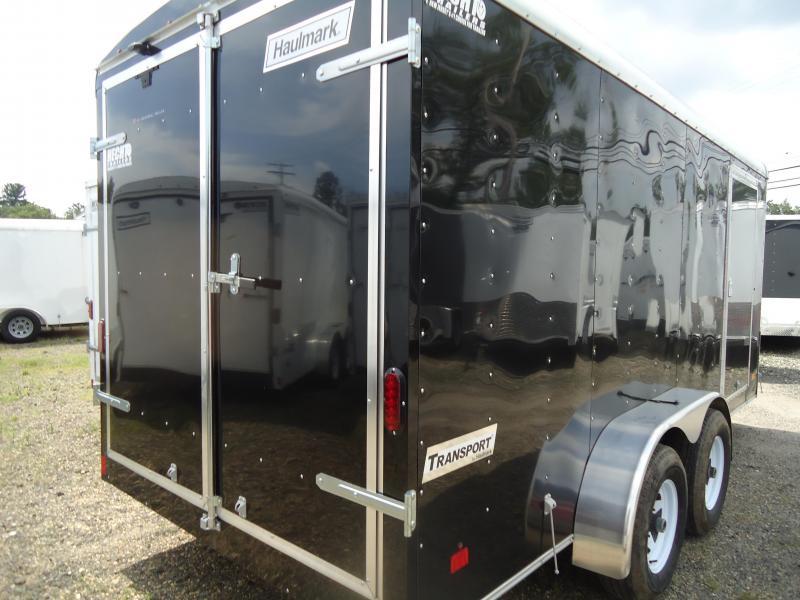2017 Haulmark 7x16 TST W3 BLACK Enclosed Cargo Trailer