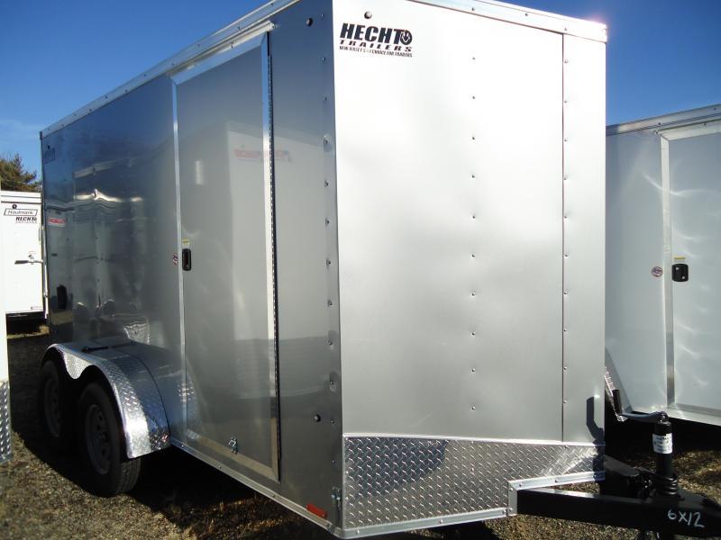 2019 Pace American 6X12 OBDLX TE2 24VS RAMP SVNTS SILVER Enclosed Cargo Trailer