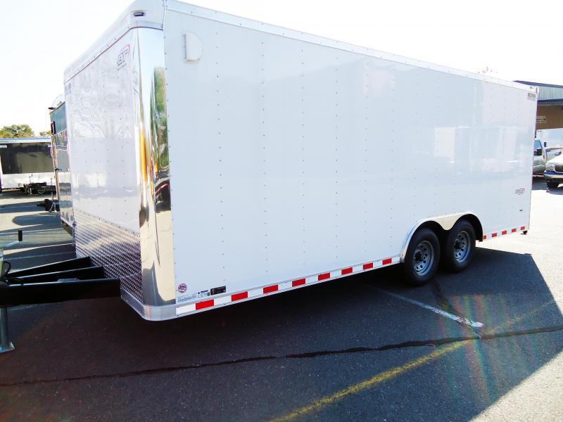2018 Bravo Trailers 8.5X20 ST TA3 LND SCP HD RAMP WHITE Car / Racing Trailer