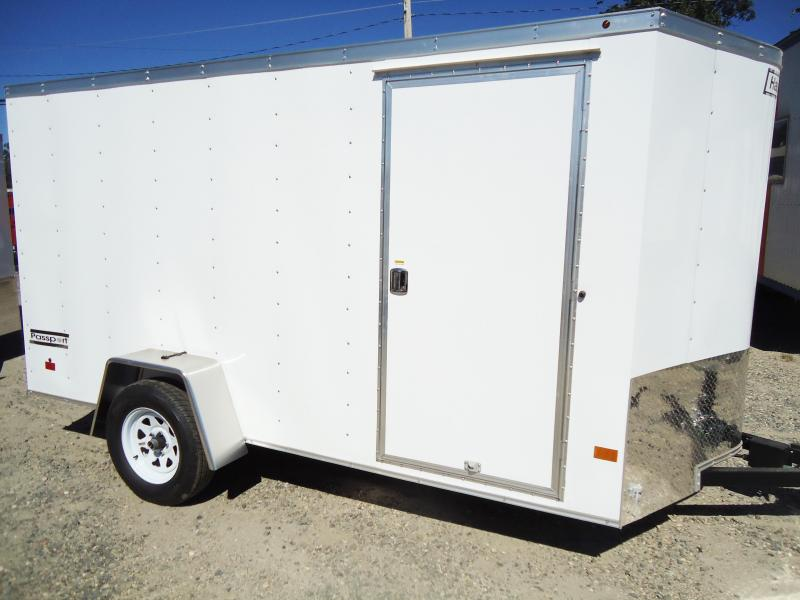 2019 Haulmark 6X12 PPT S2 EB RAMP WHITE Enclosed Cargo Trailer