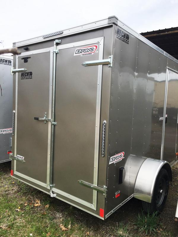 "2019 Bravo Trailers 6X10 SC SA 6""X APP PEWTER Enclosed Cargo Trailer"