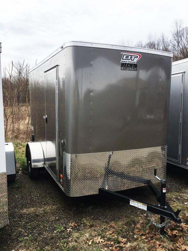 "2019 Bravo Trailers 6X10 SC SA 6""X APP PEWTER Enclosed Cargo Trailer"