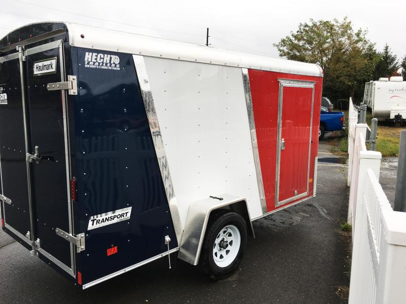 2018 Haulmark 6X12 TST DS2 RED WHITE BLUE Enclosed Cargo Trailer