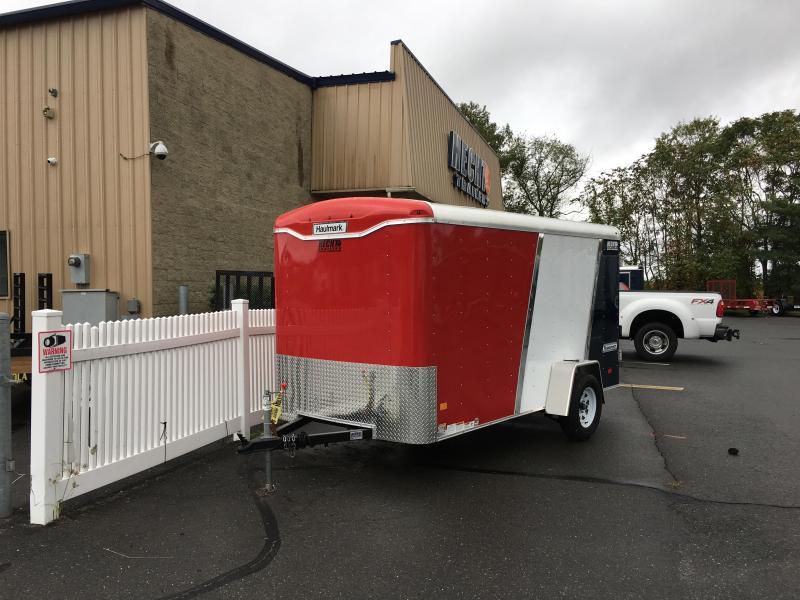 2018 Haulmark 6X12 TST DS2 RED WHITE BLUE Enclosed Cargo Trailer