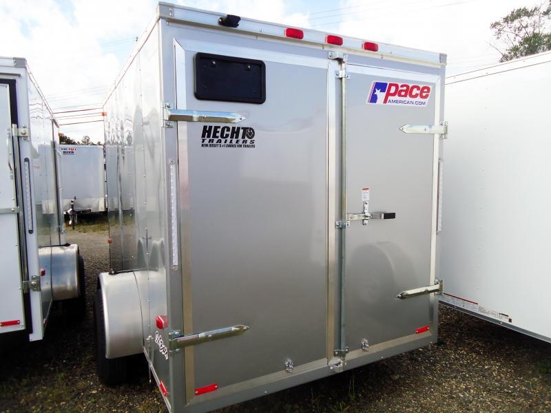 2019 Pace American 6X10 OB SI2 SILVER Enclosed Cargo Trailer