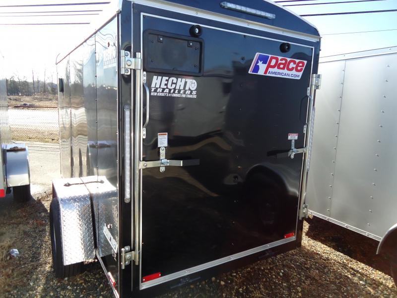 2019 Pace American 5X10 JT SE SI2 RAMP DRNG BLACK Enclosed Cargo Trailer